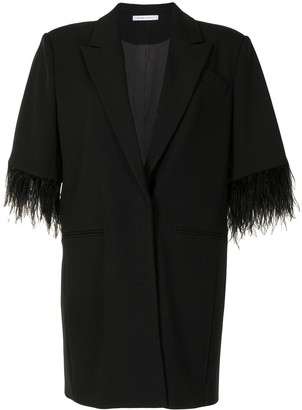 Rachel Gilbert Scout feathered-trim dress