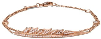 Stephen Webster 18kt rose gold Magnipheasant pave diamond feather bracelet