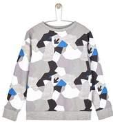 Wallis **Boys Geometric Camouflage Print Sweatshirt (5 - 12 years)