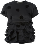 Comme des Garcons heart gathered T-shirt - women - Polyester - S