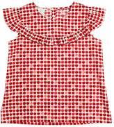 Sarah Jane Apples Printed Cotton Muslin Top