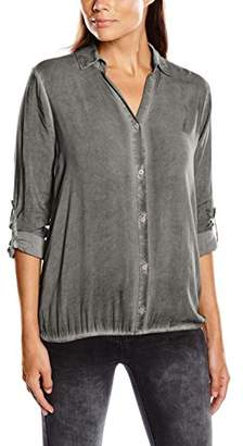 Tom Tailor Women's Long Sleeve Blouse - Grey