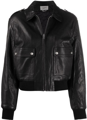 Etoile Isabel Marant Leather Bomber Jacket