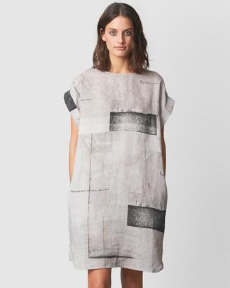 Nique Hanae Abstract Print Dress
