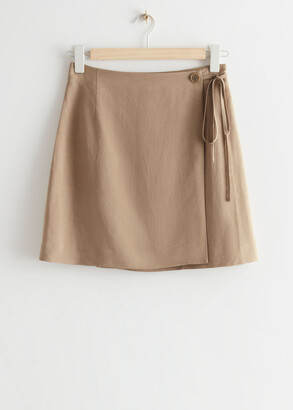 And other stories Mini Wrap Skirt