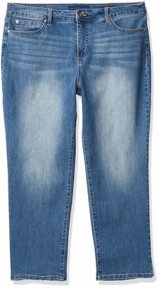 Bandolino Women's Petite Mandie Signature Fit High Rise Straight Leg Jean