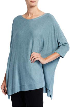 Eileen Fisher Bateau-Neck 3/4-Sleeve Cozy Top
