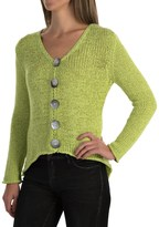 Pure Handknit West High-Low Cardigan Sweater (For Women)