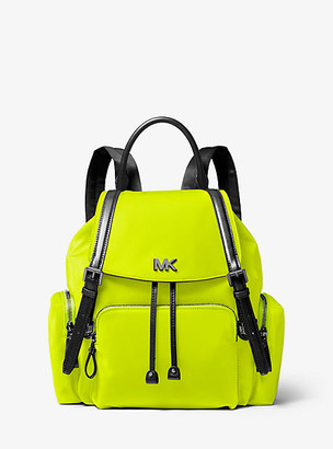 MICHAEL Michael Kors MK Beacon Medium Neon Nylon Backpack - Acid Yellow - Michael Kors