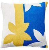 Judy Ross Textiles Sunset Yellow/Cream/Marine Pillow