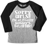 Micro Me Gray & Black 'Sorry Girls' Raglan Tee - Toddler & Boys