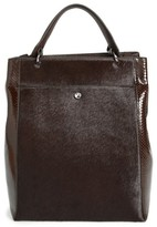 Elizabeth and James Large Eloise Genuine Calf Hair & Leather Tote - Brown