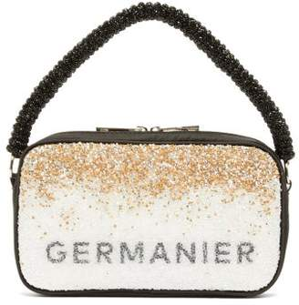 Germanier - Degrade-crystal Logo-print Handbag - Womens - Gold