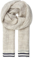 Canali Striped Linen-blend Scarf
