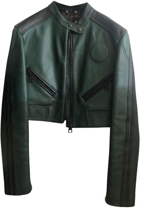 Louis Vuitton Green Leather Leather jackets