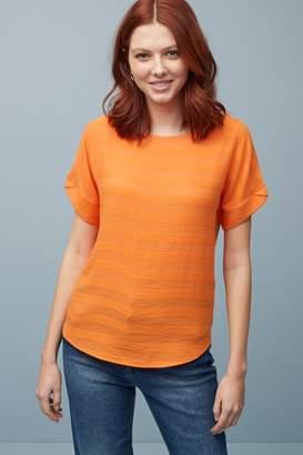 Next Womens Orange Stripe T-Shirt - Orange