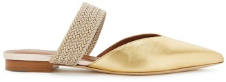 Malone Souliers Maisie 10 Gold Leather Mules