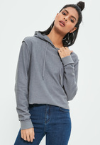Missguided Grey Seam Detail Hoodie