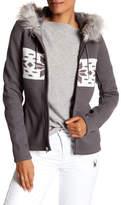 Spyder Soiree Faux Fur Trim Front Zip Hoodie
