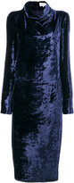 Maison Margiela cowl neck velvet dress