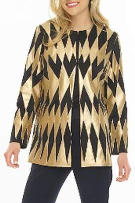 Weavz Vegan Leather Gold Jacket