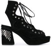 McQ by Alexander McQueen Koko sandals - women - Leather/Suede/metal/rubber - 36