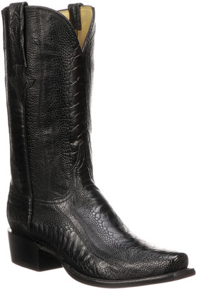 Lucchese Men's Anderson Ostrich Cowboy Boots