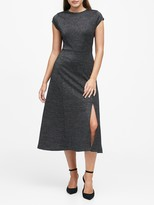 Banana Republic Metallic Midi Dress with Slit