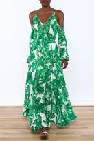 Ark & Co Cold Shoulder Leaf Maxi