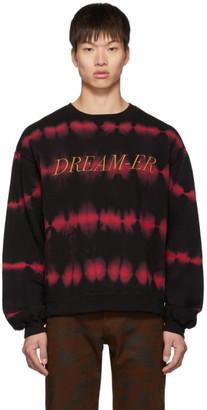 Christian Dada Black and Red Overdyeing Sweatshirt