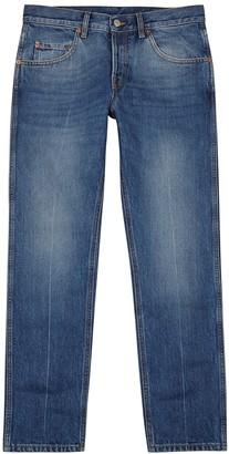 Gucci Blue cropped slim-leg jeans
