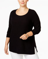 Charter Club Plus Size Textured Sweater, Only at Macy's