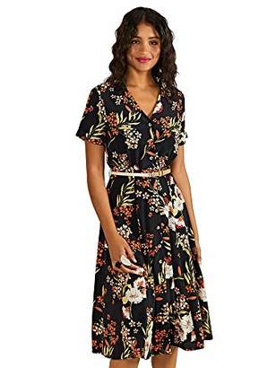 Yumi Botanical Fern Print Shirt Dress With Belt