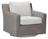 Logan Summer Classics Speaker Swivel Patio Chair with Cushions Summer Classics Frame Color: Rustic #24 Oyster, Cushion Color Baltic