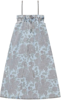 Ganni Levi's Printed Light Indigo Denim Dress