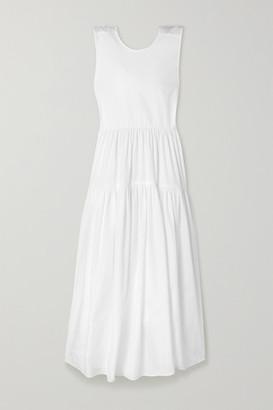 Cecilie Bahnsen Ruth Tiered Open-back Cotton-poplin Midi Dress - White