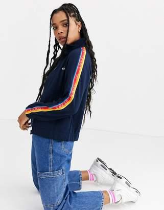 Tommy Jeans sports stripe tracksuit jacket-Navy