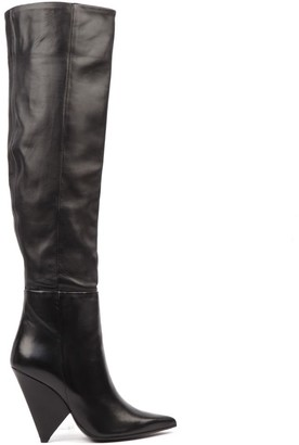 Aldo Castagna Black Nappa Leather Boots
