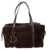 Christian Dior Cannage Suede Shoulder Bag