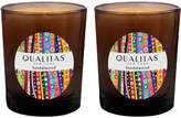 Qualitas Candles Sandalwood Beeswax Candles (Set of 2) (6.5 OZ)
