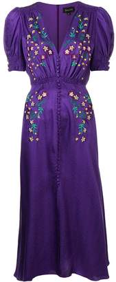 Saloni embroidered midi dress