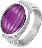 Tagliamonte Roma Imperiale Carved Amethyst and Diamond 18K Gold Ring