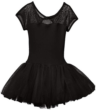 Capezio Keyhole Back Tutu Dress (Toddler/Little Kids/Big Kids) (Black) Girl's Jumpsuit & Rompers One Piece