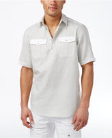 Sean John Men's Textured Popover Shirt, Only at Macy's