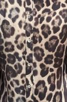Paperwhite Animal Print Silk Blouse