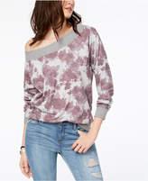 American Rag Juniors' Printed One-Shoulder Sweatshirt, Created for Macy's
