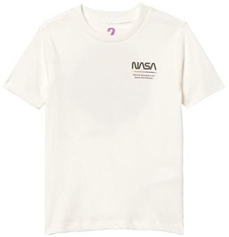 Cotton On Co-Lab Short Sleeve T-Shirt (Toddler/Little Kids/Big Kids) (License Nasa Vintage White/Nasa Moon) Boy's Clothing