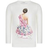 MonnaLisa MonnalisaIvory Lily Of The Valley Ballerina Top