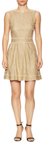 M Missoni Jersey Inset Stitched Flare Dress