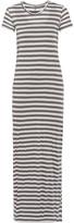 Enza Costa Striped Pima cotton maxi dress
